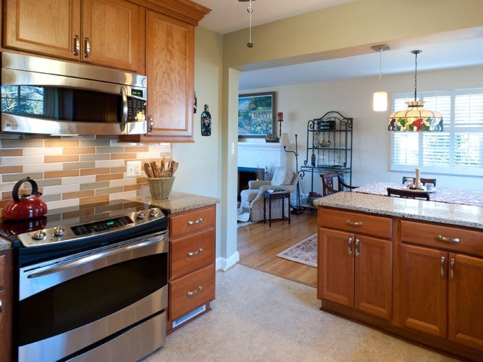 Denny + Gardner, a home improvement company based in Sterling, remodeled the kitchen in the photo above. According to the Cost vs. Value Report, 80 percent of the cost of the average major kitchen remodel job in this region brings is recouped by homeowners.  (Photo: Courtesy of Denny + Gardner)