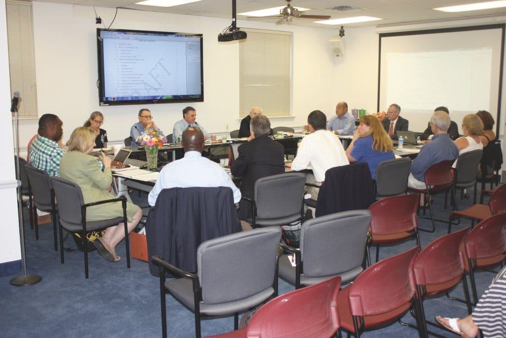THE JOINT WORK SESSION of the F.C. City Council and School Board on July 20 was held in the Dogwood Room at City Hall, and most of its three hours took place behind closed doors. (Photo: News-Press)