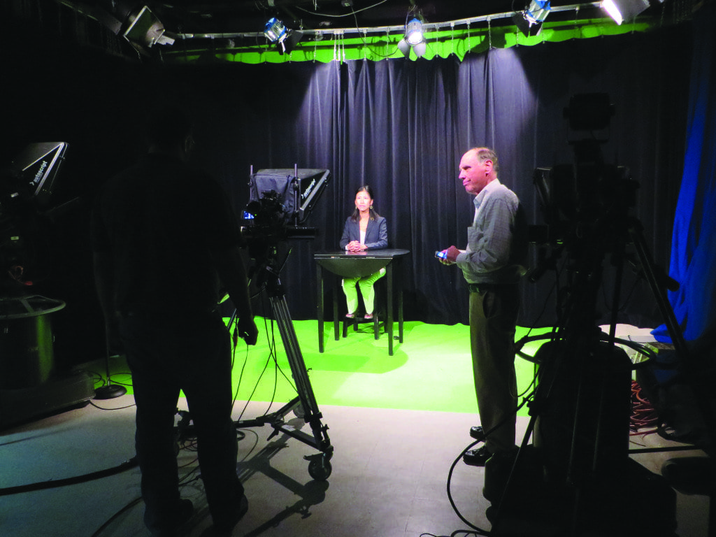 Only three of the 14 candidates for this fall's Falls Church City Council and School Board elections took advantage of a free offer from Falls Church Community Television, the city's public access station, to record messages at its studios and educate voters about their choices this November.  (Photo: Patricia Leslie)