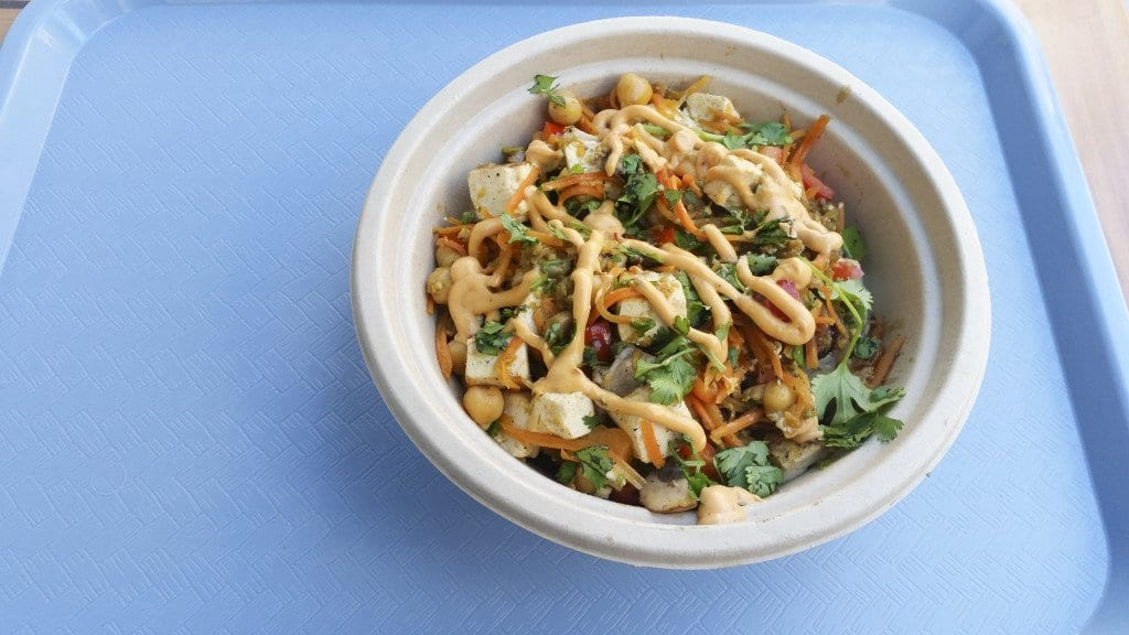 The Smokey Tomatillo bowl topped with chipotle aioli  and a little salt is pretty good. (Photo: News-Press)