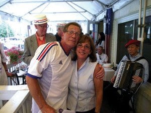 RAYMOND CAMPET and wife Lynne at one of La Cote D'Or's many Bastille Day celebrations. (Photo: La Cote D'Or/Facebook)