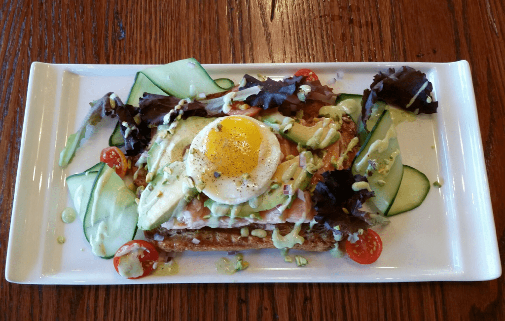 PICKLED SALMON TOAST will be available a la carte alongside Mad Fox Brewing Company's Mother's Day brunch buffet this Sunday. (Photo: Mad Fox Brewing Company)