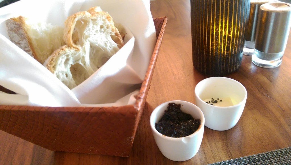 Harth's dinner bread basket comes with sea salt butter and bacon jam. (Photo: Jody Fellows)