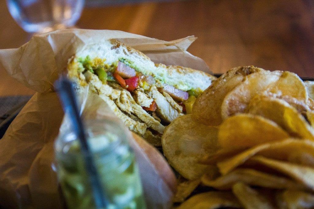HARTH'S CHICKEN AND AVOCADO sandwich with ghost chili aioli. (Photo: Jody Fellows)