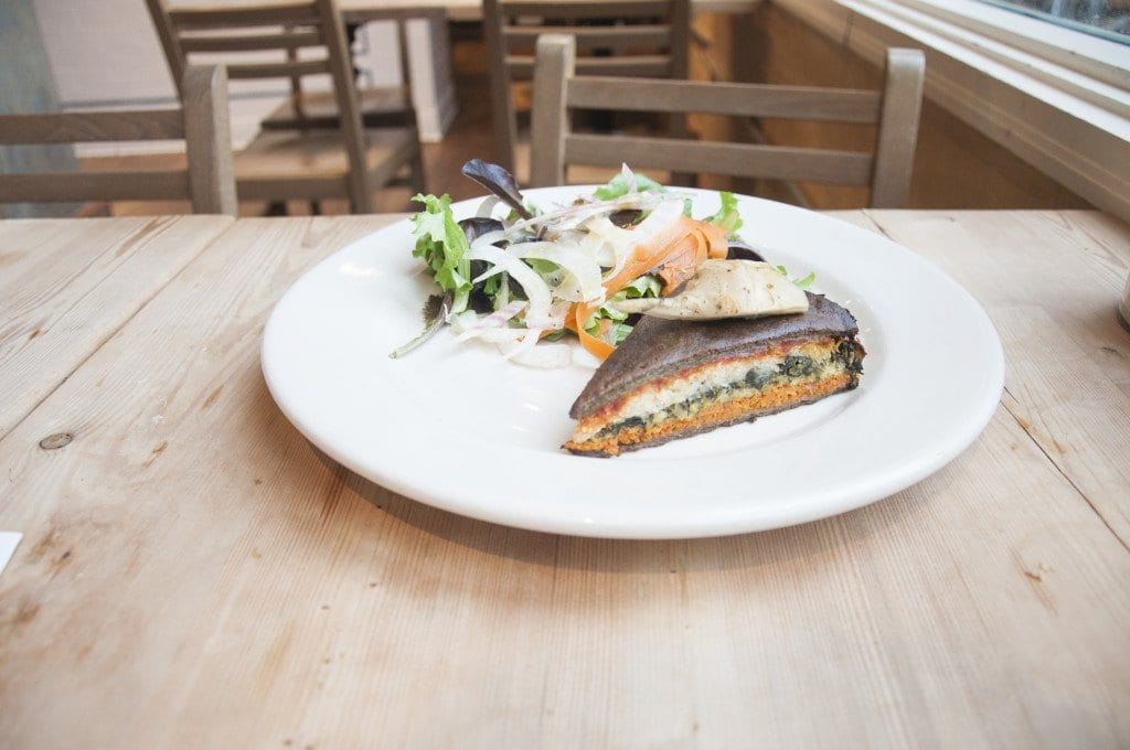 The Six-Vegetable Tart at Le  Pain Quotidien is delicious. (Photo: News-Press)