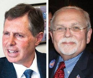 CITY OF FALLS CHURCH MAYOR David Tarter (left) and Councilmember Phil Duncan both say they will vote to keep the current tax rate. (Photos: News-Press)
