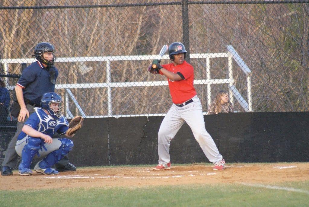 MASON's Biruk Teshome at bat during Monday's 14-1 win over Madison County. (Photo: Carol Sly)
