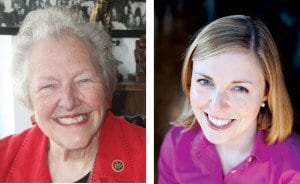 MASON DISTRICT SUPERVISOR PENNY GROSS (left) faces a challenge from community activist Jessica Swanson (right) in the Democratic primary election June 7. (Photos: News-Press (l), swansonforfairfax.com (r))
