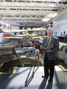 William Harbison with his log books at the National Air and Space Museum. (Photo: Patricia Leslie/News-Press)