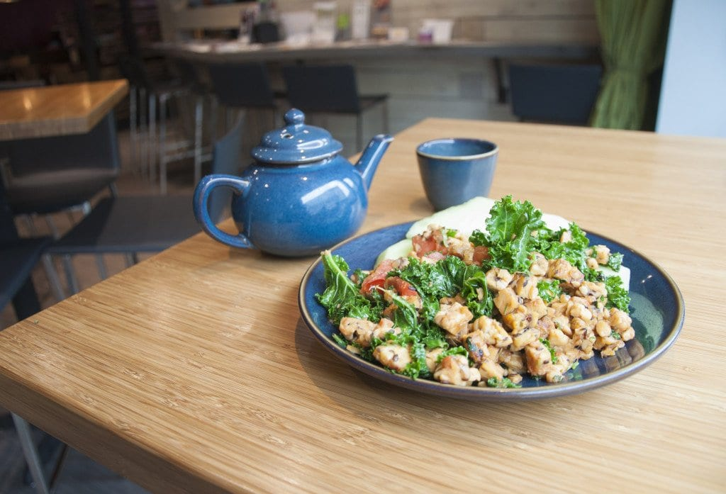 The Flax Organic Tempeh Scramble at Teaism is a great breakfast dish – it's sweet and earthy, and hearty but light. (Photo: Drew Costley/News-Press)