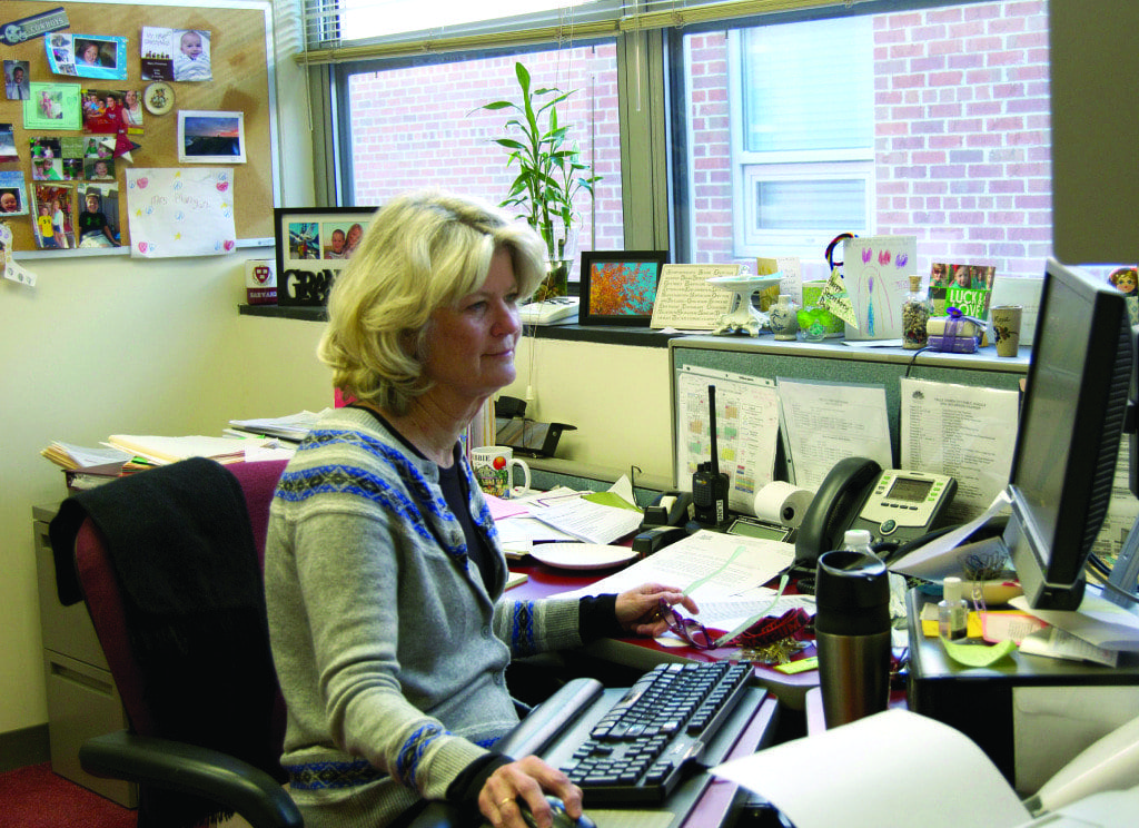 GEORGE MASON HIGH SCHOOl admin assistant Debbie Flanigan. (Photo: Melissa Johnson)