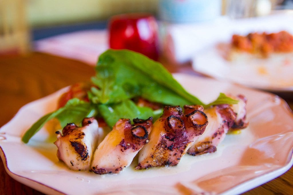 Chemel brings the Mediterranean to Orso with dishes like  grilled octopus and smoked eggplant . (Photo: Jody Fellows/News-Press)