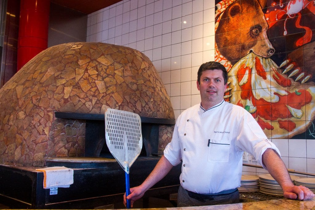 LESS THAN SIX MONTHS AGO, new Pizzeria Orso corporate chef Bertrand Chemel had no experience with pizza. Today, he's on his way to becoming a certified pizzaiolo by the Associazione Vera Pizza Napoletana. (Photo: Jody Fellows/News-Press)