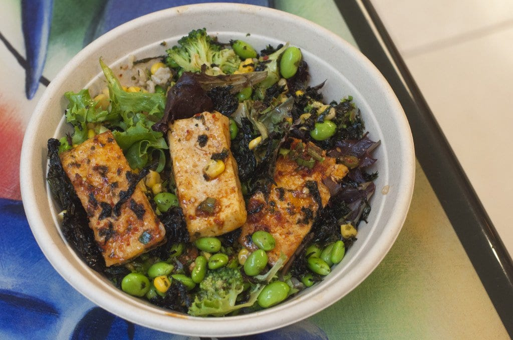 The Bibimbap Bowl at Mixing Bowl offers a familiar Chipotle-style meal, but with a Korean twist. (Photo: Drew Costley/News-Press)