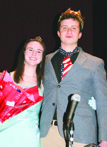 Mason seniors Sarah Miller and Gus Constance were named Ms. and Mr. Mason last Friday. (Photo: Carol Sly)