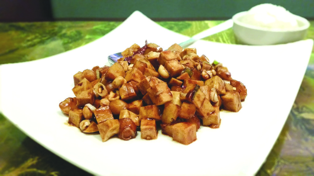 The vegan Kung Pao Chicken at Oriental Star is as good as an Kung Pao dish made with meat. (Photo: News-Press)