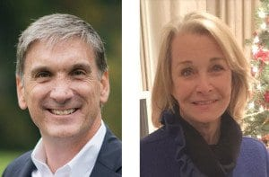 REPUBLICAN CRAIG PARISOT (left) and Democrat Kathleen Murphy (right) are vying for Virginia's 34th District seat in the House of Delegates vacated by Barbara Comstock in a special election January 6. (Photos: Craig Parisot for Delegate (left), News-Press (right))