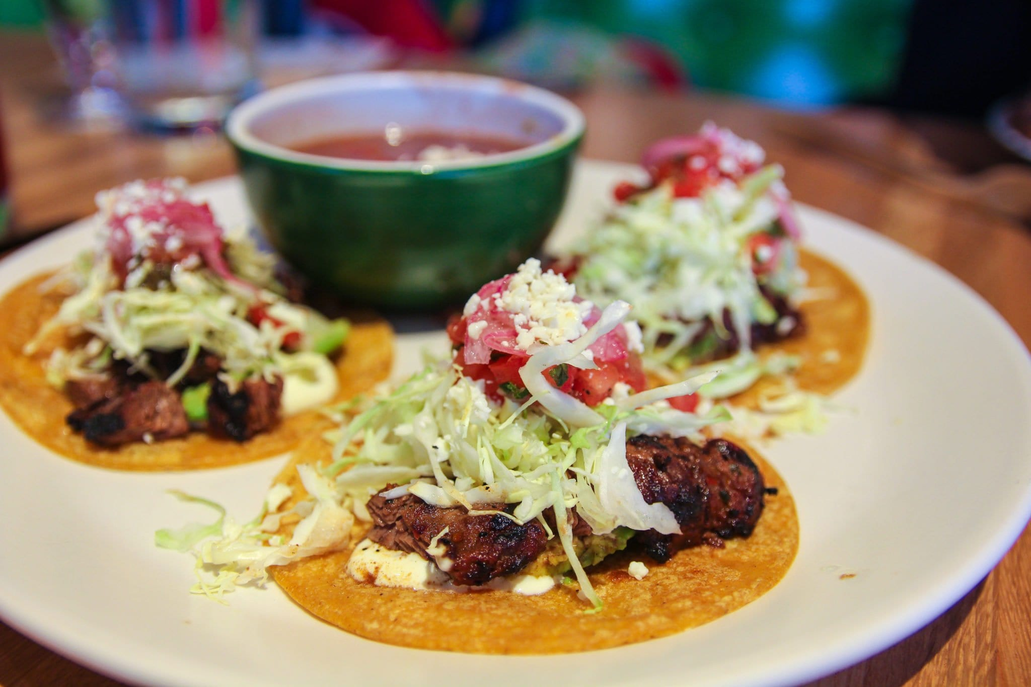 Uruguayan grass-fed beef tacos coming to your face at True Food Kitchen.  (Photo: News-Press)