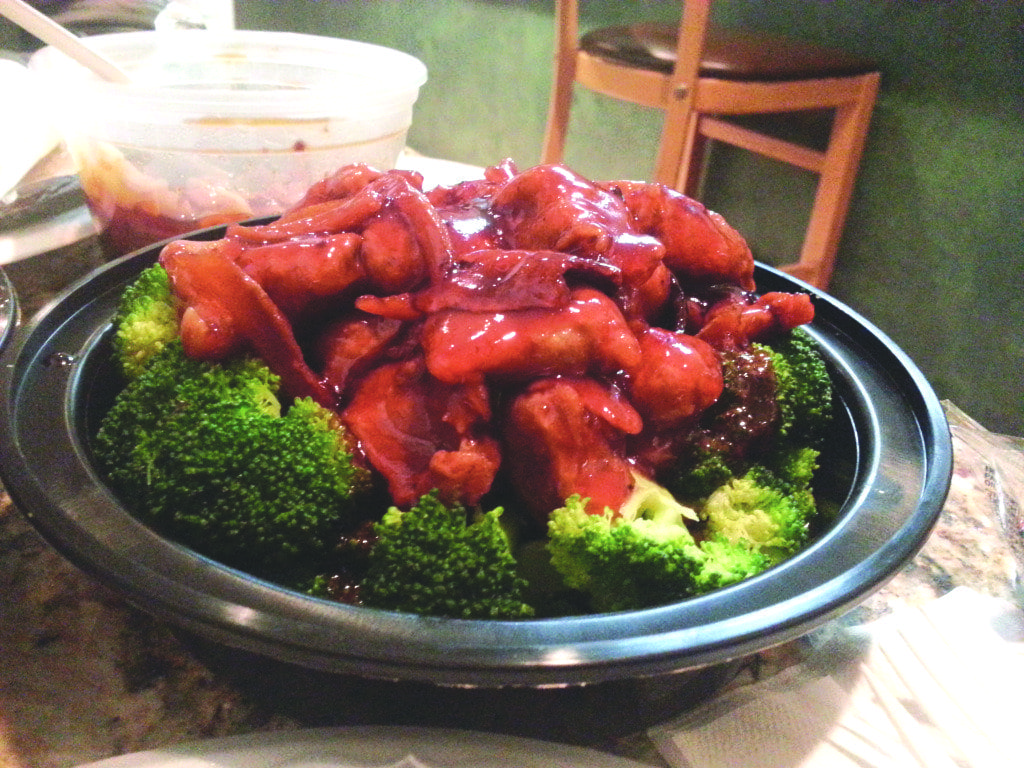 The orange beef at Asian Wok Cafe is spicy, sweet and delicious. (Photo: News-Press)