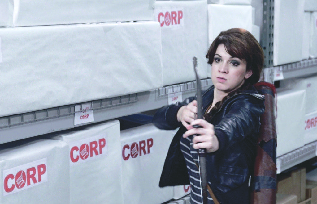 """Chelsie Lloyd played Kashliss Everlean in Bard Tales Production and Ciscovaras Pictures' short film """"The Black Friday Games,"""" which parodied the Black Friday shopping craze and the popular film/book series """"The Hunger Games."""" (Photo: Courtesy of Bard Tales Productions and Ciscovaras Pictures)"""