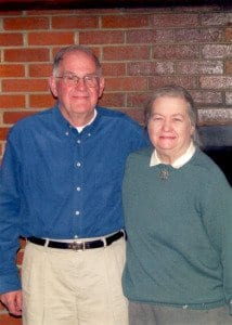 """Leslie """"Les"""" Niel (right) and Mabel Niel, who passed away about a year apart, were known by Falls Church residents as """"Mabel & Les."""" (Courtesy Photo)"""