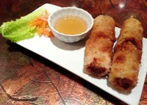 The Vegetarian Imperial Rolls are a delightful starter. (Photo: News-Press)