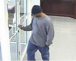 Security footage released by the FBI of Tuesday's robbery.
