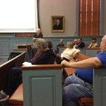 Former F.C. City Councilman  Ira Kaylin is shown addressing today's town hall meeting on how to best spend the cash profits from the sale of the city's water system. (Photo: News-Press)