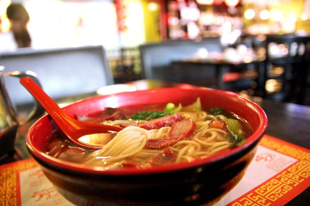 The hand-pulled noodles at Lotus Garden in Vienna. (Photo: News-Press)
