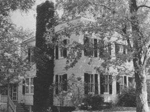 BUILT IN THE 1890s, the house at the corner of Great Falls and North Maple Avenue is almost as old as Falls Church itself, which gained township status in 1875. The house in 1960. (Courtesy Photo)