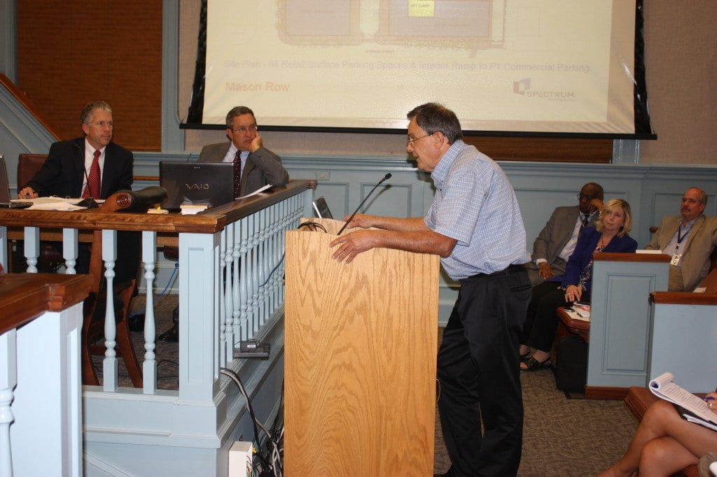 KEN CURRLE, owner of the City Sunoco station that would be replaced if the proposed new project gets the OK at the intersection of W. Broad and N. West Street, spoke to the F.C. City Council tonight, saying that Sunoco, nationally, should be approached about staying as part of the new development at the location. They've not be contacted, he said. (Photo: News-Press)