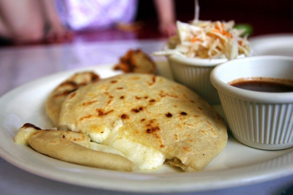 Taco Baja's overstuffed pupusas de queso.