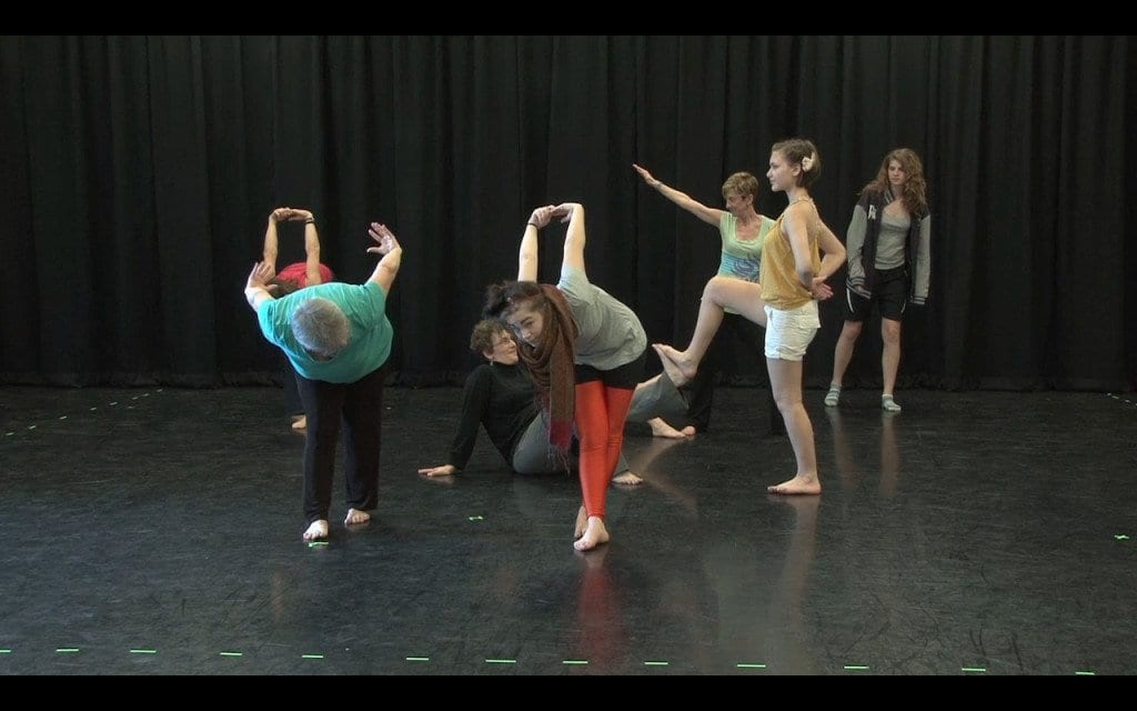 """Mothers and daughters negotiate space and control in a movement workshop, filmed for the documentary """"Negotiating Girl.""""  (Courtesy Photos)"""