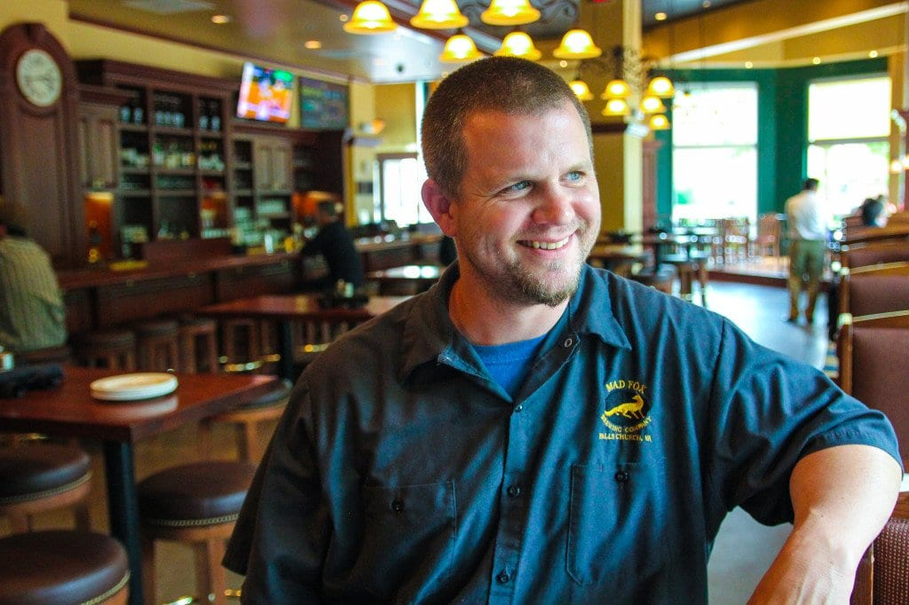 AFTER WORKING AT some of the area's top restaurants, chef Brian Wilson's new mission is to lead the kitchen at Falls Church's Mad Fox Brewing Company. (Photo: News-Press)