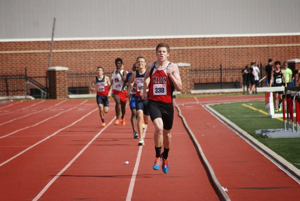 Mason's Truman Custer placed first in the 800-meter run (1:58.94) at the T.C. Williams Track and Field Invitational last Saturday. He is the 2A state leader in the event. (Photo: Courtesy Carol Sly)