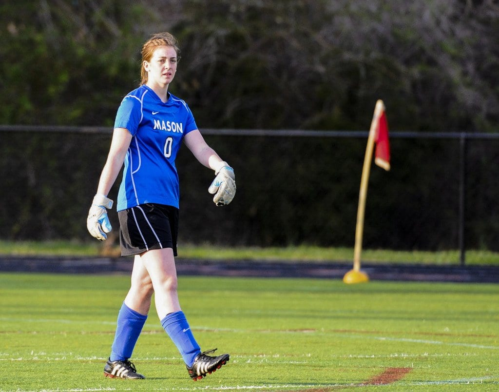 George Mason High School goalie Rebecca Moot. (Photo: Brad Mills)