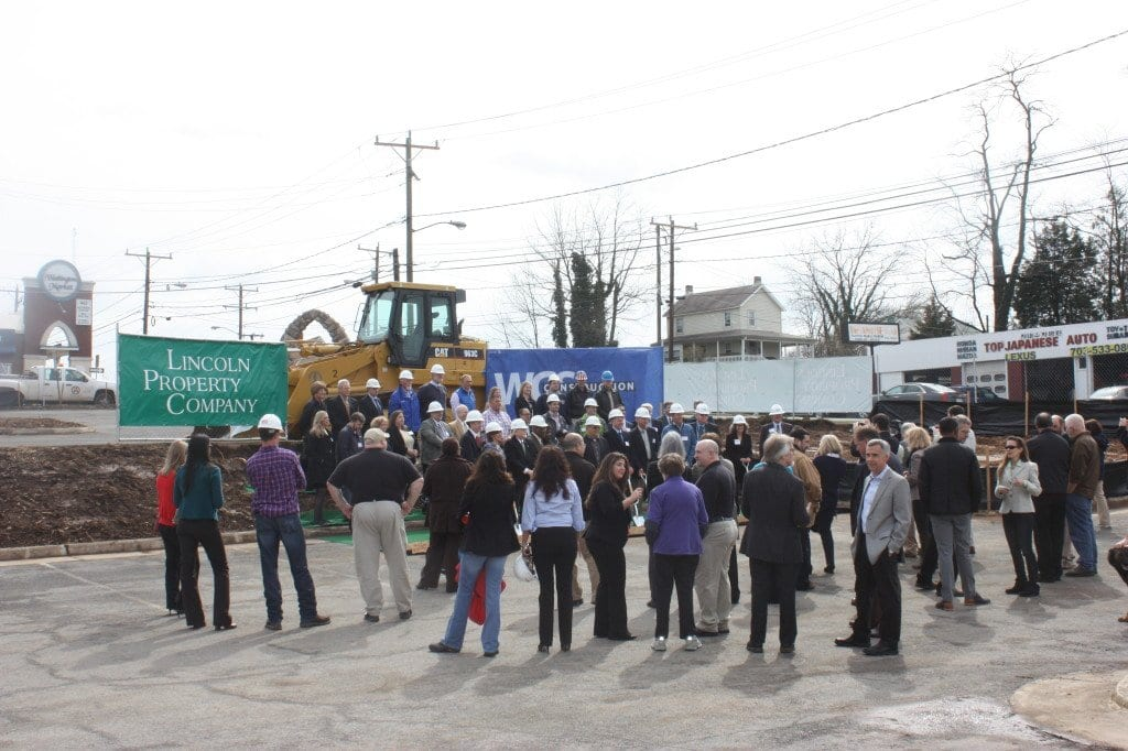"""GROUNDBREAKING FOR THE """"Reserve at Tinner Hill"""" drew a large crowd to the site of the former International Motors and, long before that, the Hechinger store that burned to the ground in the 1980s. (Photo: News-Press)"""