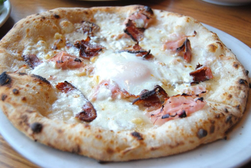 IT'S NOT LEG OF LAMB, but Pizzeria Orso's Big Country is one of Falls Church's Easter specials, with the Maple Avenue restaurant offering up a buy-one-get-one-deal on brunch pizzas this Sunday. (Photo: Leslie Poster)