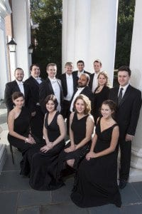 The Thirteen, an ensemble of professional singers performing Renaissance and Baroque period music, will open The Falls Church-Episcopal's concert series next Monday. (Courtesy Photo)
