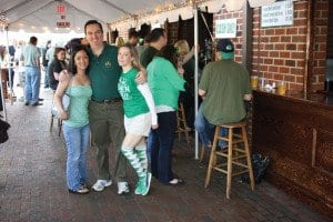 while the snow may have shut down the Four P's deck for St. Patrick's Day festivities on Monday, the Falls Church Irish pub hopes to open its outdoor seating sometime in the next few weeks.