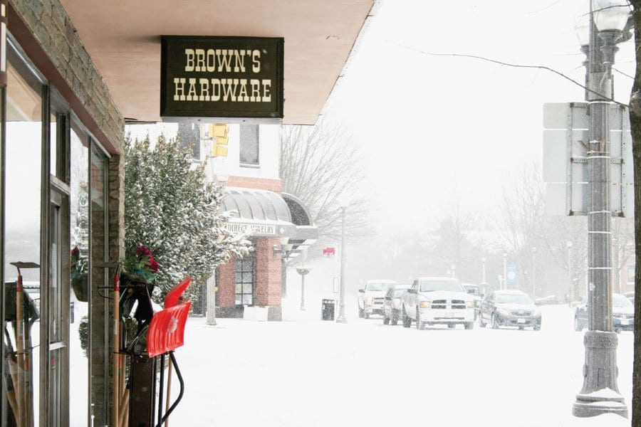 WHILE OTHER FALLS CHURCH stores were closed up tight during the most recent snow storm, City institution Brown's Hardware was open, and at the ready to provide residents with shovels, sleds and other necessary winter supplies. (Photo: News-Press)