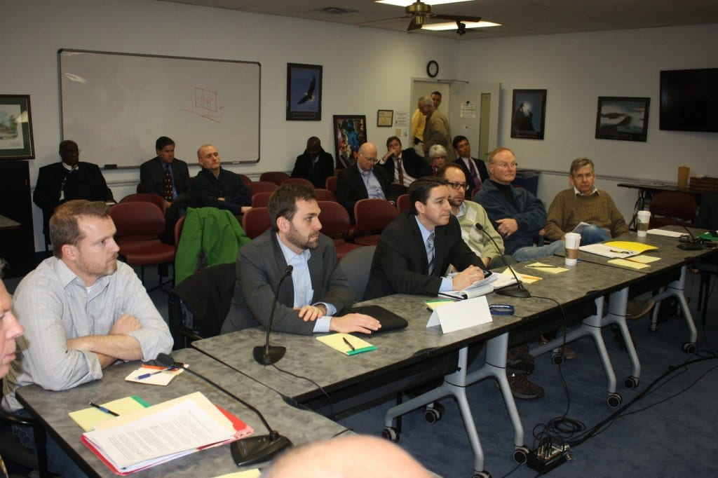MEMBERS OF FALLS CHURCH'S Economic Development Authority came before a work session of the F.C. City Council tonight to discuss their land banking plans. (Photo: News-Press)