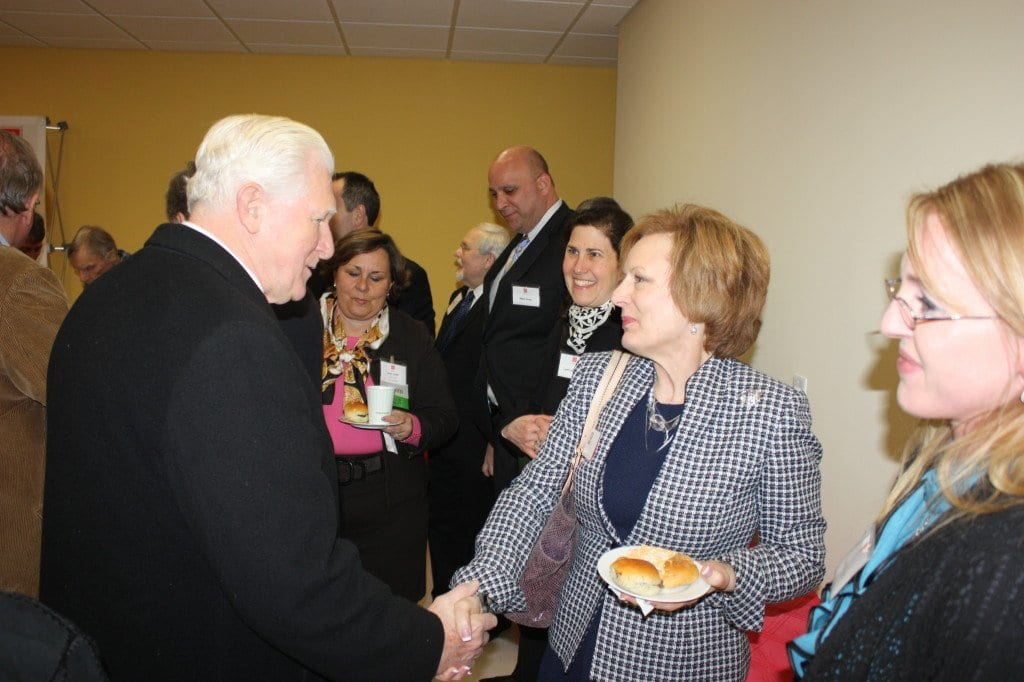 REP. JIM MORAN GREETED celebrants at the grand opening of the Easter Seals' Child Development Center in Falls Church last Thursday, days before announcing just yesterday that he will not seek re-election to a 13th term this year. Moran told the News-Press in an interview yesterday that he intends to remain active on behalf of important causes following his departure from Congress. (Photo: News-Press)