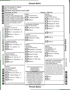 City of Falls Church sample ballot. (Click to enlarge)