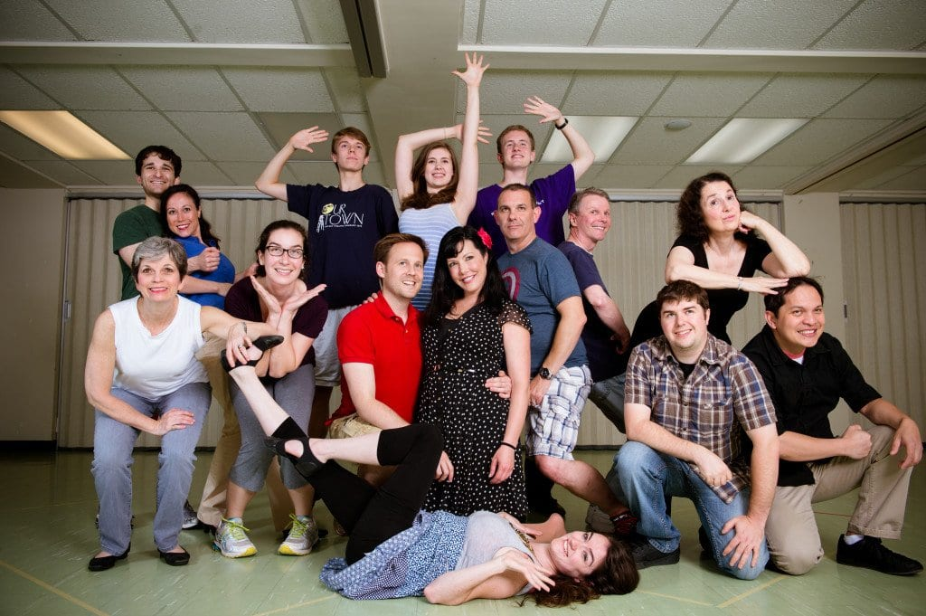 The Cast of 'Damn Yankees' is pictured above. The McLean Community Players production of the classic Broadway musical opens Friday night and runs through July 28.  (Photo: Traci J. Brooks Photography)