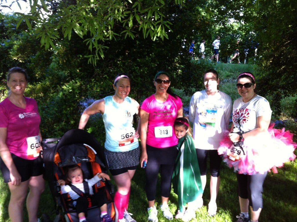 Running moms from the Falls Church/Annandale chapter of Moms RUN This Town spent their special holiday at the Mother's Day 4 Miler and 1 Mile Fun Run in Reston, some with their children. (Courtesy Photo)