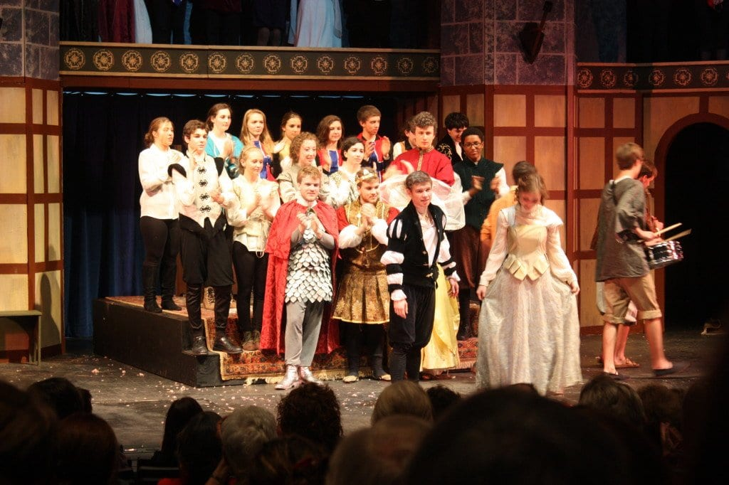 """WILDLY APPLAUDED upon the completion of their opening night production of """"Hamlet,"""" the entire cast of George Mason High School students were equally pleased with the show and the audience reaction. (Photo: News-Press)"""