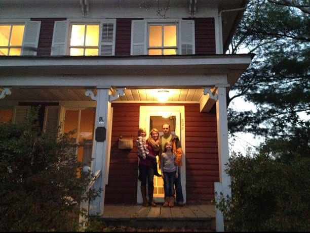 Ross family on closing day. (Photo: Dan Ross)